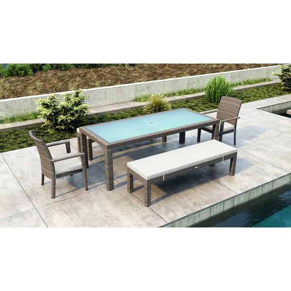 Gilleland 5 Piece Dining Set with Sunbrella Cushion by Orren Ellis