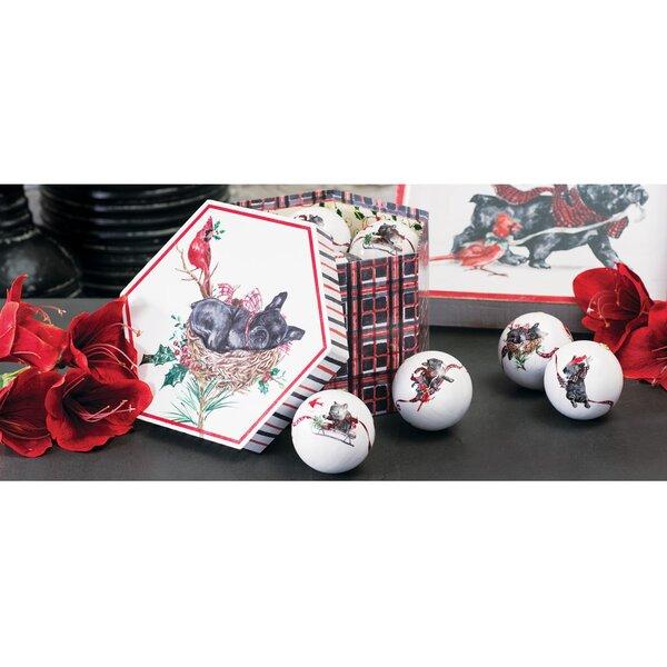 Benson and Bartholomew Decoupage Ball Ornaments Set (Set of 14) by The Holiday Aisle
