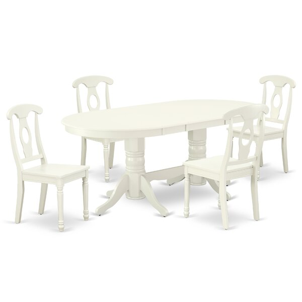 Dwana 5 Piece Extendable Solid Wood Dining Set by Winston Porter Winston Porter