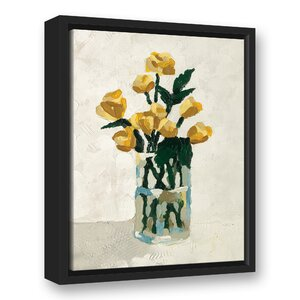 'Flowers in a Vase' Acrylic Painting Print on Canvas by Winston Porter