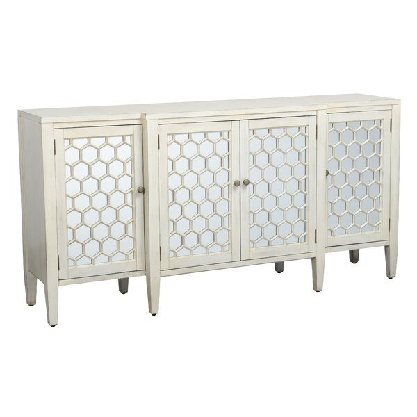 Kinston Honeycomb Design Wooden Sideboard by Ivy Bronx Ivy Bronx