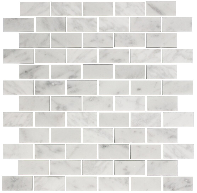 Carrara Marble Mosaic Tile In White