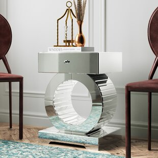 Best Reviews Hofstetter Mirrored End Table By Mercer41