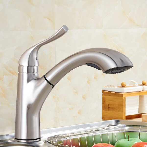 Single Handle Kitchen Faucet with Side Spray by Upscale Designs by EMA