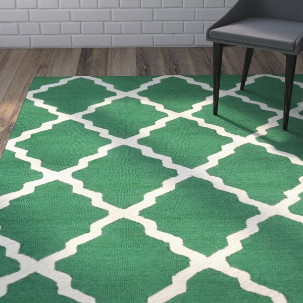 Tadlock Emerald Marrakech Trellis Rug by Wrought Studio
