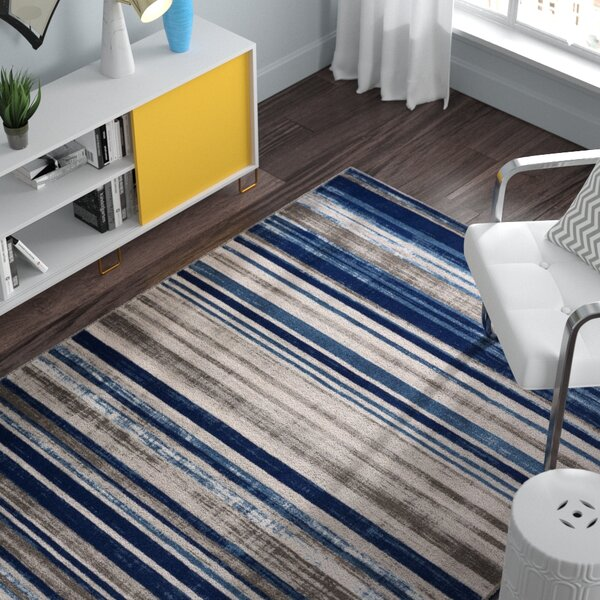 Ramona Blue Area Rug by Zipcode Design