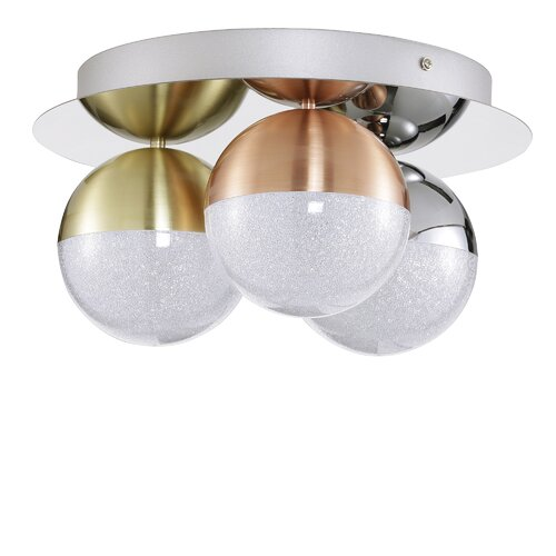 Ayala 3-Light LED Ceiling Spotlight Willa Arlo Interiors