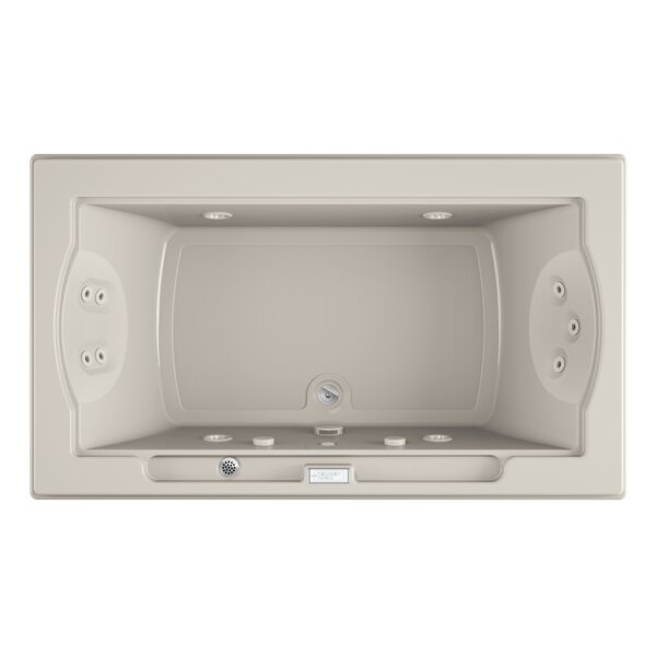 Fuzion Chroma Whisper Right-Hand 72 x 42 Drop-In Whirlpool Bathtub by Jacuzzi®