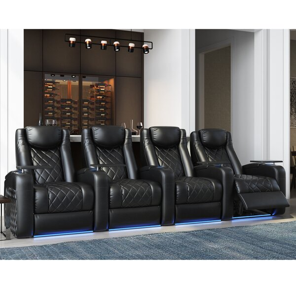 Azure HR Series Home Theater Recliner (Row Of 4) By Red Barrel Studio