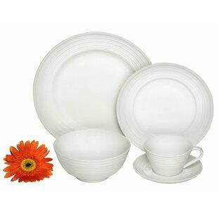Classic Swirl Premium 40 Piece Dinnerware Set Service for 8  sc 1 st  Wayfair & Mikasa Swirl White Dinnerware   Wayfair