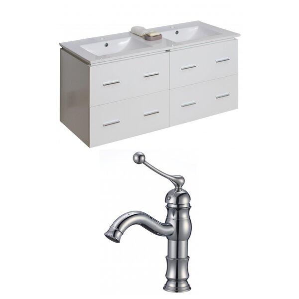 Kyra Modern 48 Rectangle Double Bathroom Vanity Set by Orren Ellis