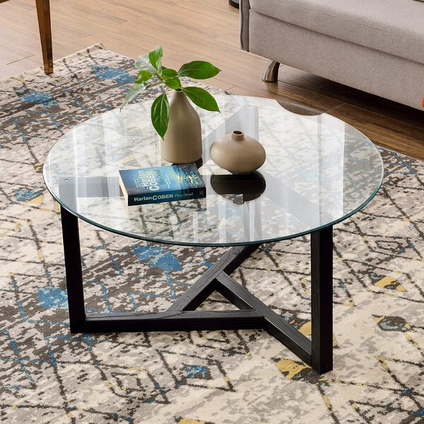 Ivy Bronx Glass Top Coffee Tables