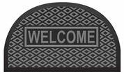 Outdoor Half Round Welcome Polypropylene Rubber Doormat by Evideco