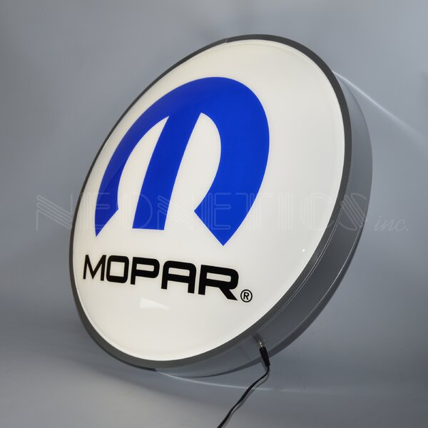 Mopar Omega M Backlit LED Lighted Sign by Neonetics