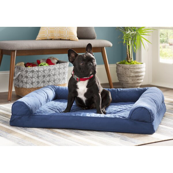 Bernice Quilted Orthopedic Sofa-Style Dog Bed by A