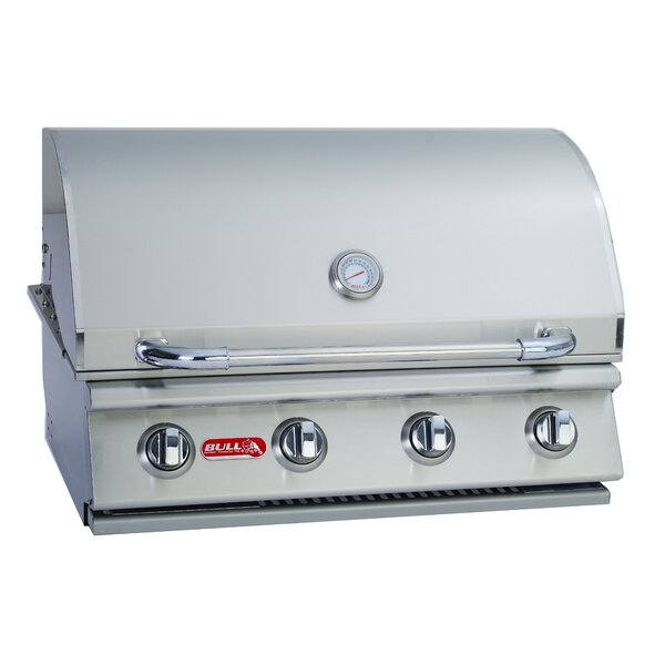 Outlaw 4-Burner Built-In Propane Gas Grill by Bull
