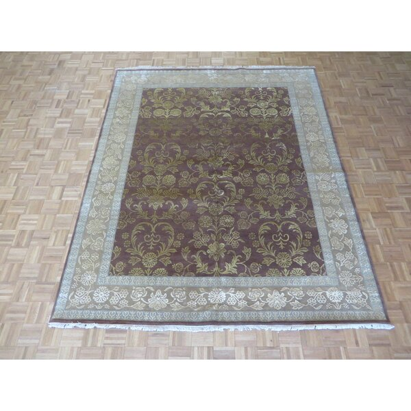 One-of-a-Kind Rhyne Hand-Knotted Wool Brown Area Rug by Astoria Grand