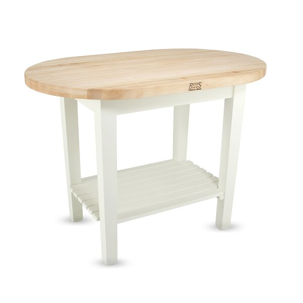 #1 Eliptical C-Table Prep Table With Butcher Block Top By John Boos New Design