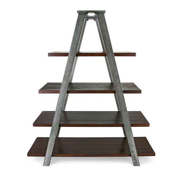 Blondelle Metal and Wood Ladder Bookcase by 17 Stories