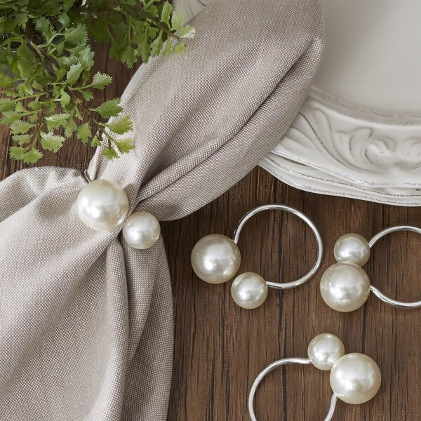 Canvey Pearl Napkin Rings (Set of 4) by Birch Lane™