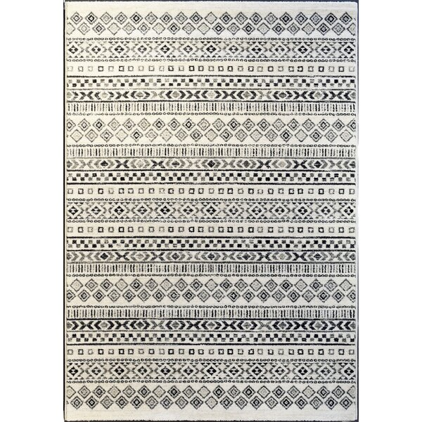 Teasley Ivory/Gray Area Rug by Union Rustic