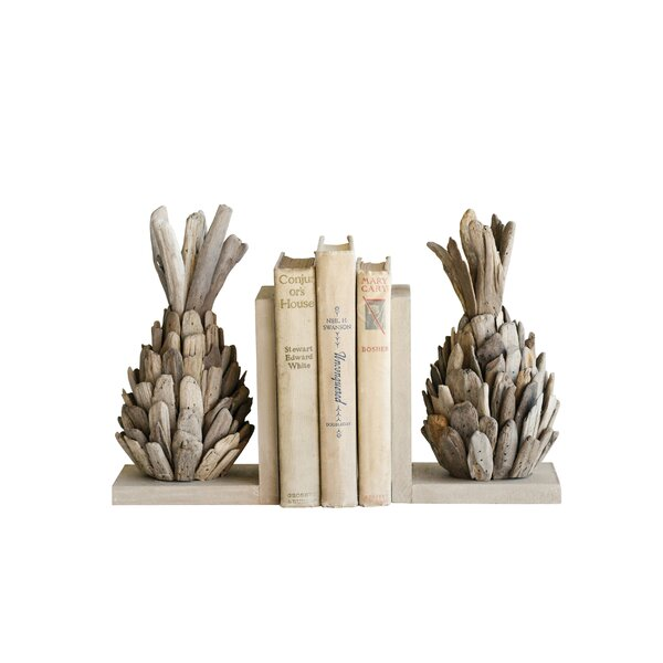 Driftwood Pineapple Bookends (Set of 2) by Bay Isle Home