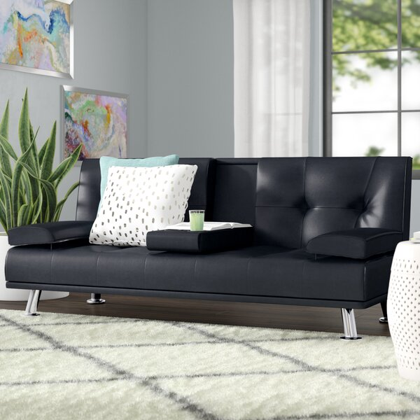 Sales-priced Guiterrez Center Console Sleeper Sofa by Wrought Studio by Wrought Studio