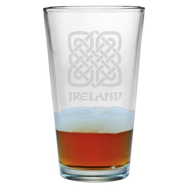 Ireland Pint 16 oz. Glass (Set of 4) by Susquehanna Glass