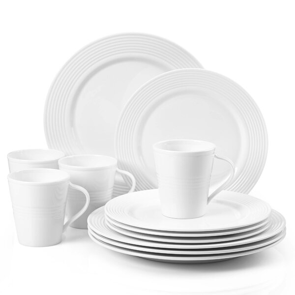 Tin Can Alley Seven Degree 12 Piece Dinnerware Set, Service for 4 by Lenox