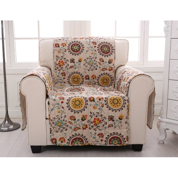 Quilted Box Cushion Slipcover by Charlton Home