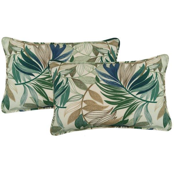 Arin Indoor/Outdoor Lumbar Pillow (Set of 2) by Beachcrest Home