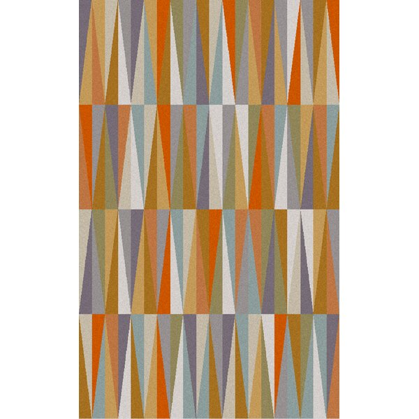 Vaughan Orange Area Rug by Wrought Studio