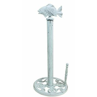 Bargain Fish Free-Standing Paper Towel Holder By Handcrafted Nautical Decor