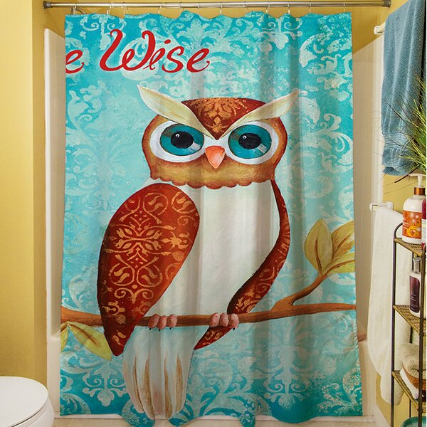 Be Wise Shower Curtain by Manual Woodworkers & Weavers
