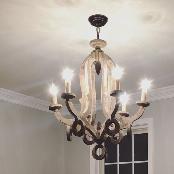 Domingues 5 - Light Candle Style Empire Chandelier With Wrought Iron Accents By Ophelia & Co.
