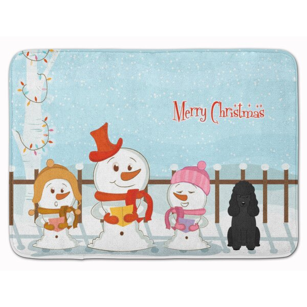 Merry Christmas Carolers Poodle Memory Foam Bath Rug by The Holiday Aisle