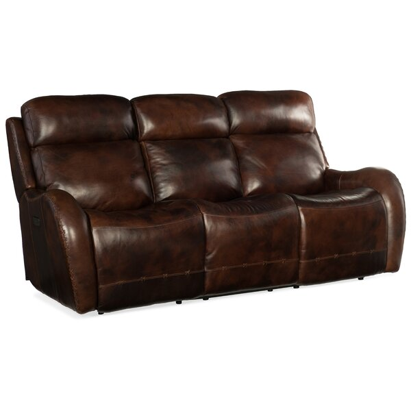 Online Shopping Discount Chambers Leather Reclining Sofa by Hooker Furniture by Hooker Furniture