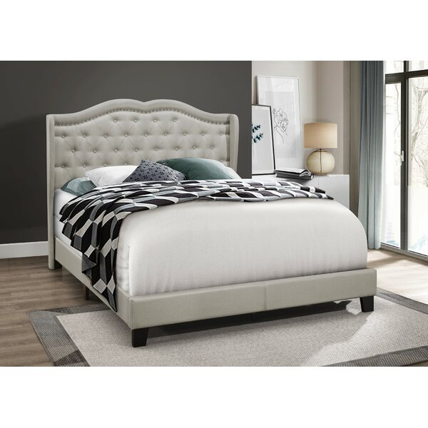 Omari Upholstered Standard Bed by Charlton Home