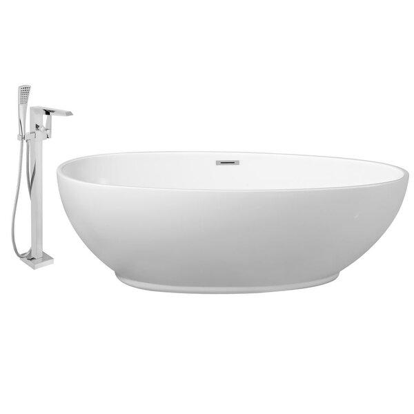 71 x 35 Freestanding Soaking Bathtub by Streamline Bath