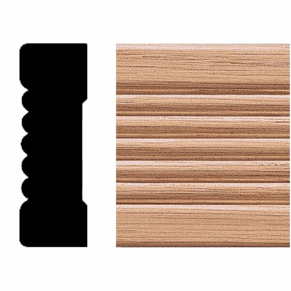 3/4 in. x 2-1/4 in. x 8 ft. Oak Fluted Casing Moulding by Manor House