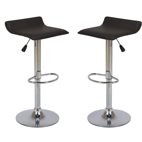 Adjustable Height Swivel Bar Stool (Set of 2) by Vogue Furniture Direct