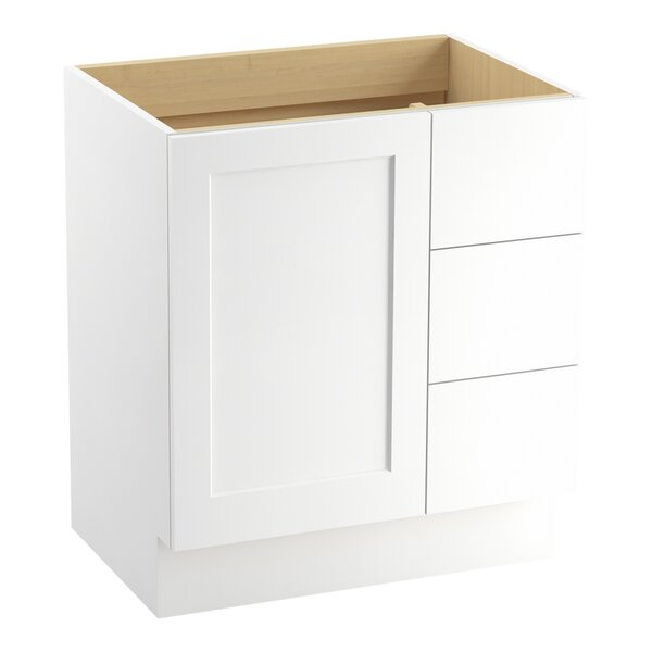 Poplin 30 Vanity with Toe Kick, 1 Door and 3 Drawers on Right by Kohler