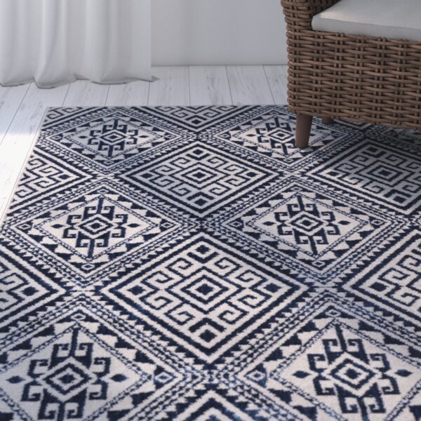 Zita Blue Area Rug by Bungalow Rose