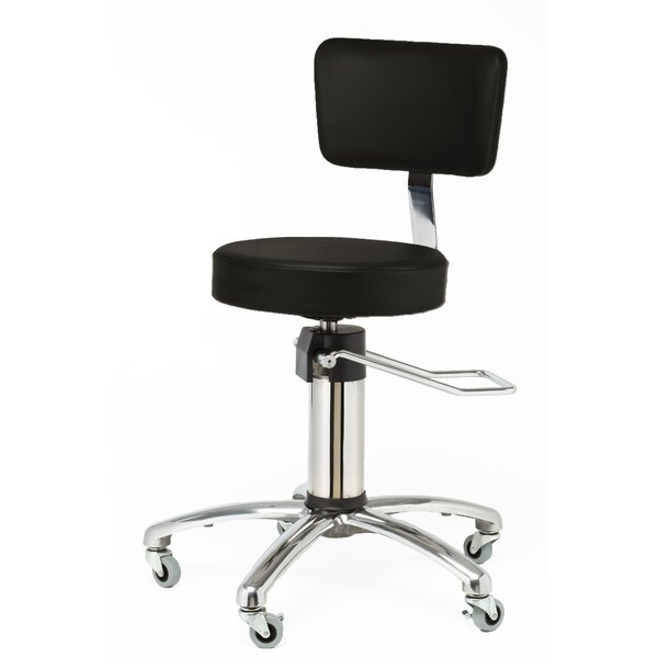 Height Adjusts Hydraulic Surgical stool with backrest by Brandt Industries
