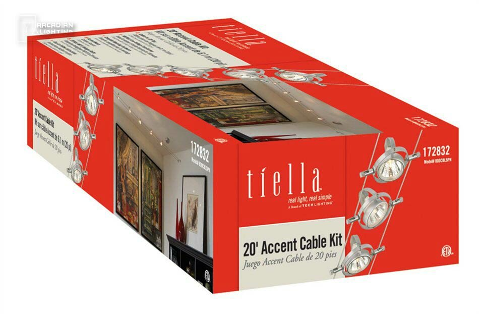 Tiella 5 light cable head pivot track kit reviews wayfair aloadofball Images