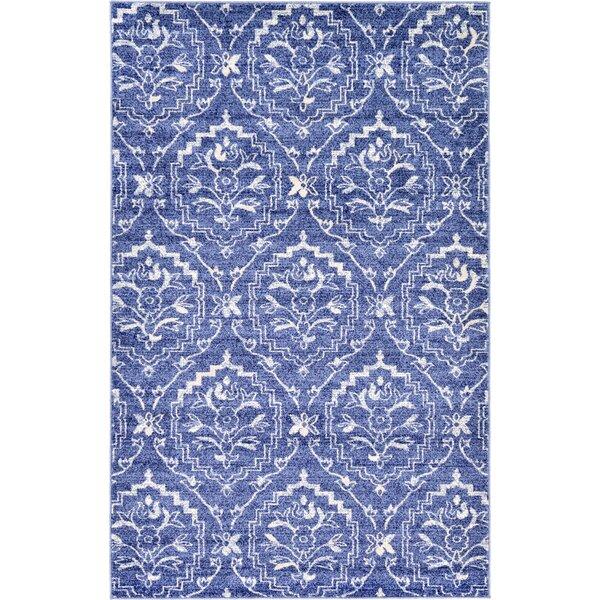Ezequiel Blue Area Rug by Bungalow Rose