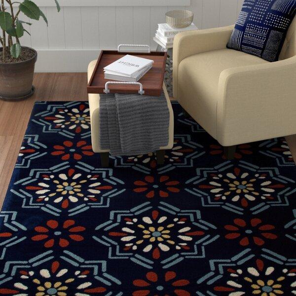 Vasquez Dark Blue/Orange Indoor/Outdoor Area Rug by Winston Porter