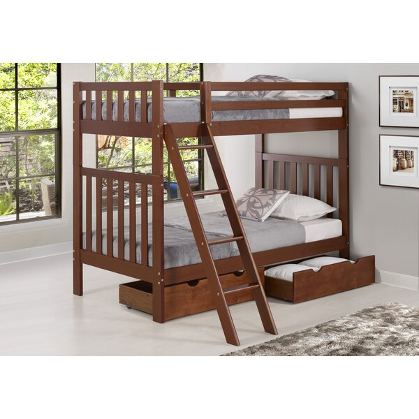 Ratcliff Twin Bunk Bed With Drawers by Alcott Hill