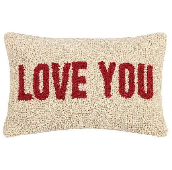 Claremont Mom Heart and Love You Wool Lumbar Pillow by Winston Porter