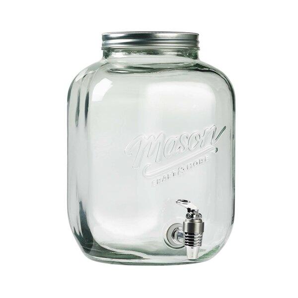 Glass 383.9 oz. Beverage Dispenser by Mason Craft & More